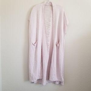 Lysse Light Pink Long Open Cardigan L/XL